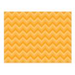 Sunny Yellow Zig Zag Pattern. Postcard