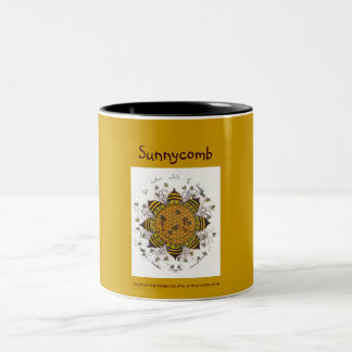 Sunnycomb - Black Two Tone Mug (golden yellow)