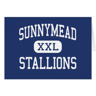 Sunnymead Stallions Middle Moreno Valley Greeting Cards