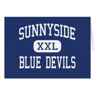 Sunnyside - diablos azules - alto - Tucson Arizona Felicitacion