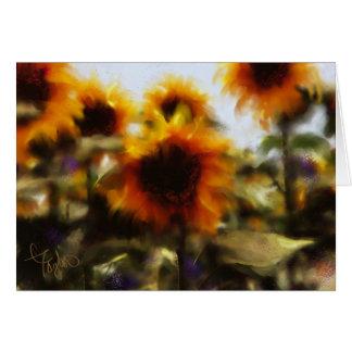 Sunnyside encima de la tarjeta de felicitación del