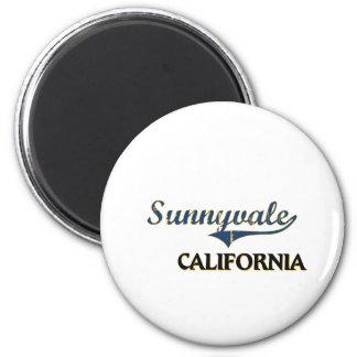 Sunnyvale California City Classic 2 Inch Round Magnet
