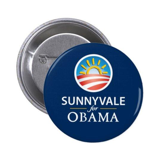 Sunnyvale for Obama Button - Blue