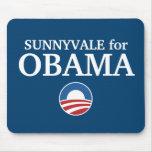 SUNNYVALE para el personalizado de Obama su ciudad Alfombrillas De Ratón