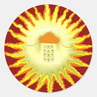 SunPhone Pegatina Redonda