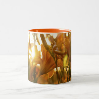 Sunray Flowers Two-Tone Coffee Mug