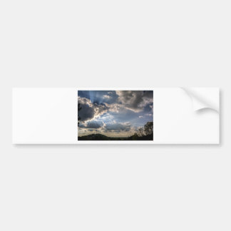 Sunray through clouds bumper sticker