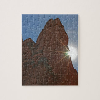 Sunrays and Sandstone Jigsaw Puzzle
