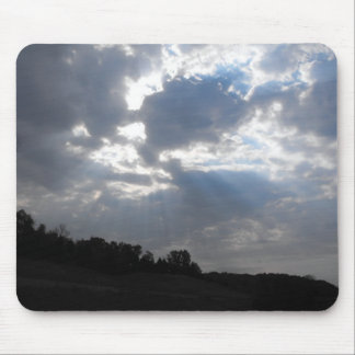 Sunrays breaking through mouse pad