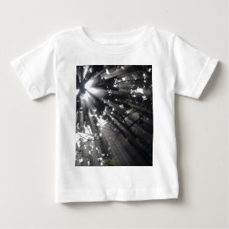Sunrays in a forest tee shirt