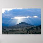 Sunrays over Peak Poster