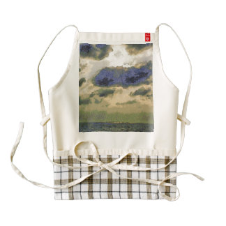Sunrays over the water zazzle HEART apron