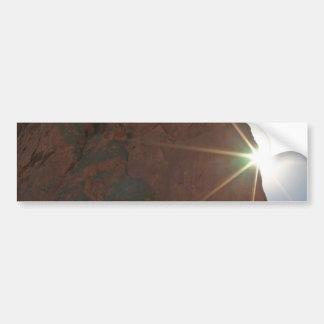 Sunrays y piedra arenisca pegatina para auto