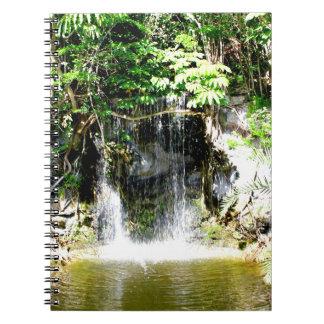 Sunreflected Waterfall Spiral Notebook