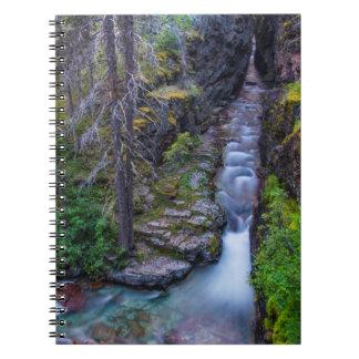 Sunrift Gorge In Glacier National Park, Montana Notebook