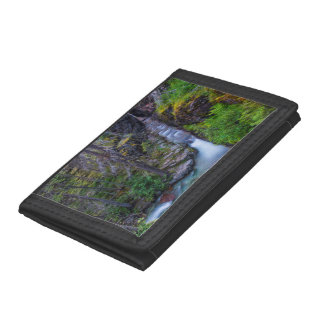 Sunrift Gorge In Glacier National Park, Montana Tri-fold Wallets