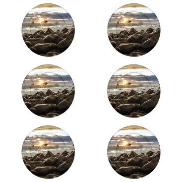 Beach Themed sunrise-1239727 button covers