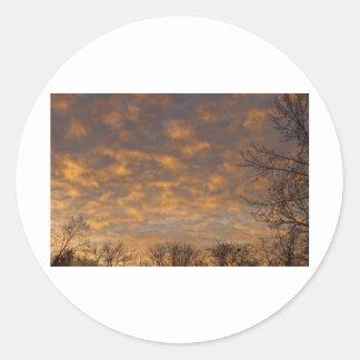 Sunrise_360.jpg Classic Round Sticker