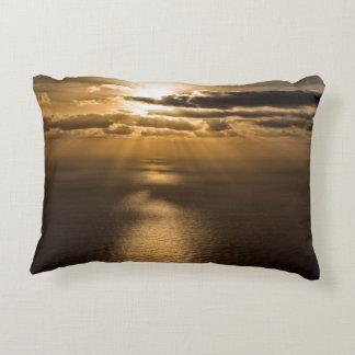 Sunrise above the Atlantic ocean Accent Pillow