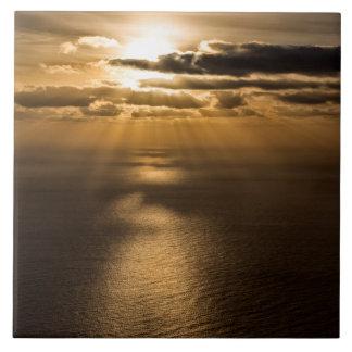 Sunrise above the Atlantic ocean Ceramic Tile