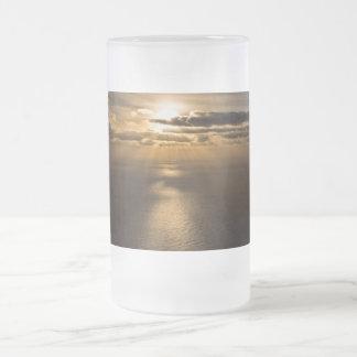 Sunrise above the Atlantic ocean Frosted Glass Beer Mug