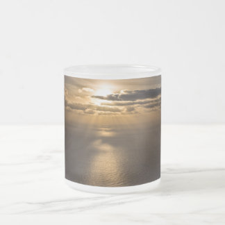 Sunrise above the Atlantic ocean Frosted Glass Coffee Mug