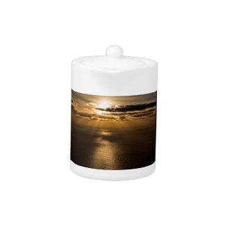 Sunrise above the Atlantic ocean Teapot