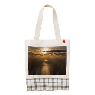 Sunrise above the Atlantic ocean Zazzle HEART Tote Bag