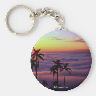 Sunrise Above The Clouds Basic Round Button Keychain