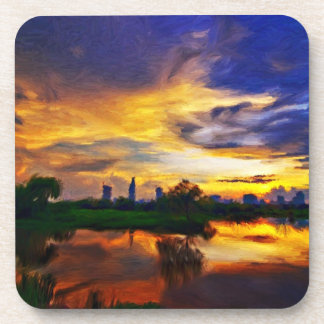 Sunrise | Abstract painting Beverage Coaster