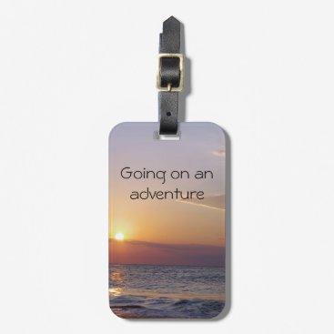 Beach Themed Sunrise Adventure Luggage Tag