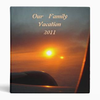Sunrise Airplane Wing Vacation Binder