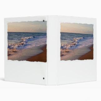Sunrise along Florida beach choppy waves Vinyl Binders