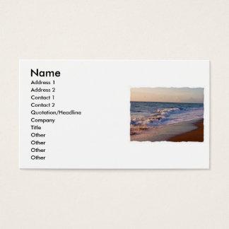 Sunrise along Florida beach choppy waves Business Card