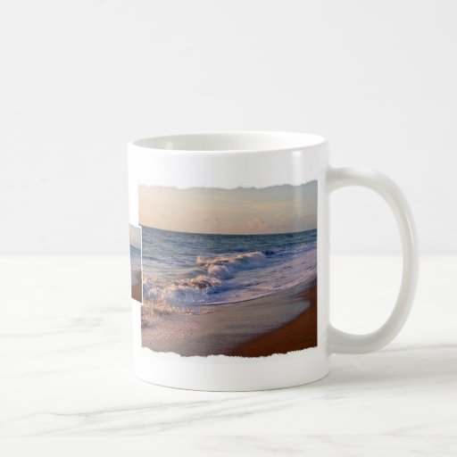 Sunrise along Florida beach choppy waves Classic White Coffee Mug