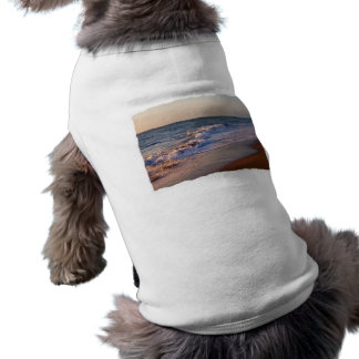 Sunrise along Florida beach choppy waves Dog Tee Shirt