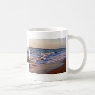 Sunrise along Florida beach choppy waves Coffee Mugs