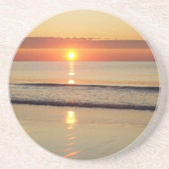 Sunrise Along Hampton Beach New Hampshire Drink Coaster
