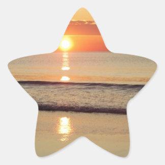 Sunrise Along Hampton Beach New Hampshire Star Sticker