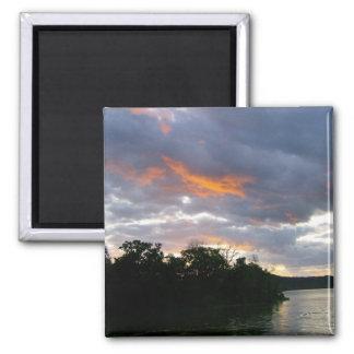 Sunrise Along Ohio River Magnet