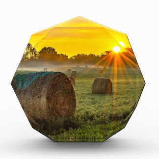 Sunrise and Bales Acrylic Award