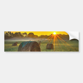 Sunrise and Bales Bumper Sticker