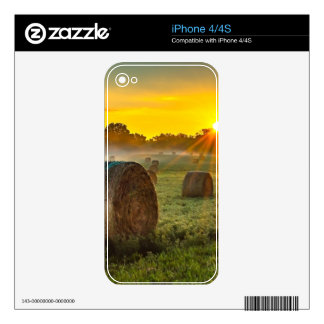 Sunrise and Bales Decals For The iPhone 4S