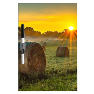 Sunrise and Bales Dry Erase Board