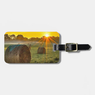 Sunrise and Bales Luggage Tag