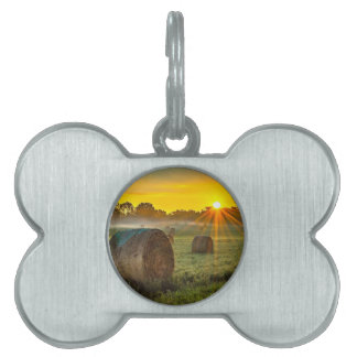 Sunrise and Bales Pet ID Tag