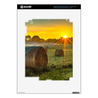 Sunrise and Bales Skins For iPad 3