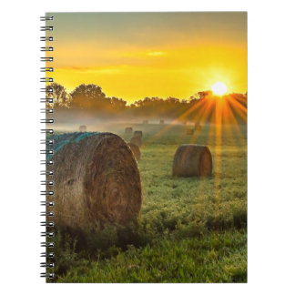 Sunrise and Bales Spiral Notebook