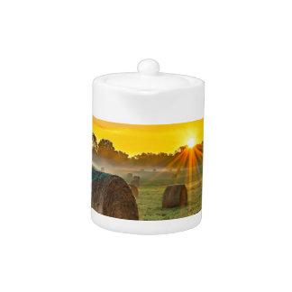 Sunrise and Bales Teapot