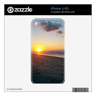 Sunrise and Beaches Phone Skins Decal For The iPhone 4S